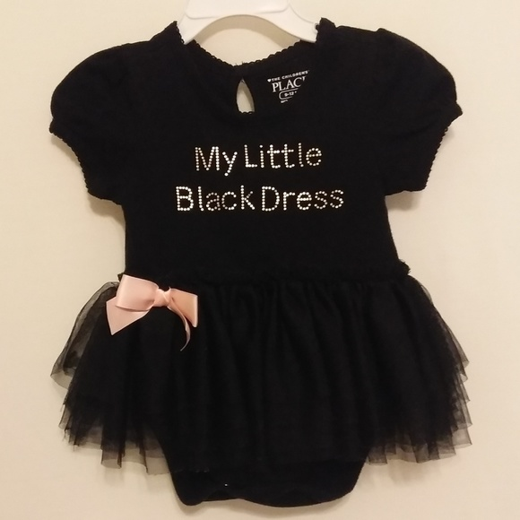 6d285c8b3d69 BABY GIRL LITTLE BLACK DRESS ONESIE - SO CUTE! M_5c49f04e819e90d93f70b7ca